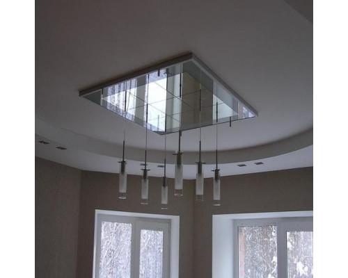 Зеркальное панно на потолок из квадратной зеркальной плитки