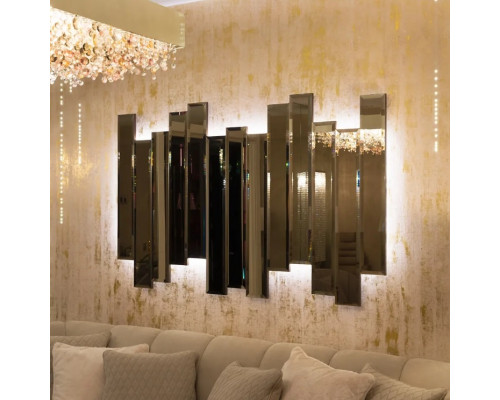 Зеркальное панно с подсветкой