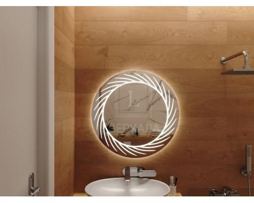 Зеркало с подсветкой для ванной комнаты Лацио