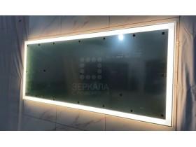 Выполненная работа: зеркало для ванной комнаты с подсветкой Люмиро 2000х800 мм (г. Старый Оскол)